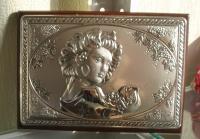 Картина серебряная с изображением девушки Весна