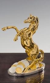 """Статуэтка """"Лошадь золотая с монетами"""""""