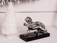 Статуэтка тигр серебряный