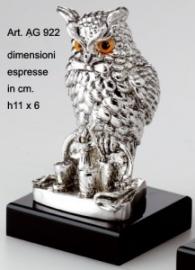 Статуэтка Сова Бармен, серебро