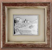 Картина Пейзаж морской, в серебре