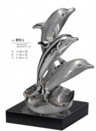 """Статуэтка """"Семья дельфинов"""", серебро"""