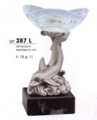 Статуэтка Дельфин с хрустальной розеткой
