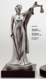 Статуэтка Фемида, серебряная