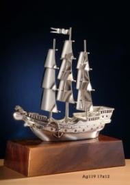Статуэтка Корабль серебряный