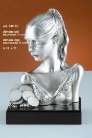 Статуэтка Фортуна, под серебро