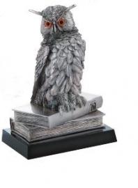 Статуэтка Сова на книгах, серебро