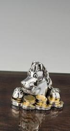 """Статуэтка """"Серебряная голова лошади с монетами"""""""