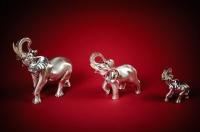 Серебряный индийский слон