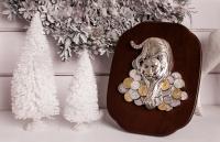 Картина Тигр серебряный с монетами